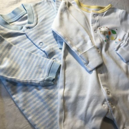 0-3 Month 2 x Sleepsuits